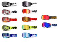 NEW 2020 Adult 100% Armega Goggles Clear Or Mirror Lens Motocross Enduro